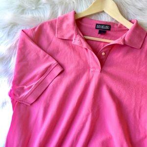 {Lands' End} Women's Pink Collar Shirt w/ Buttons